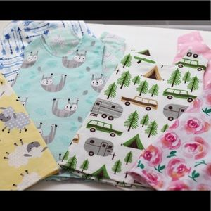 Lot of 9 newborn handmade dresses